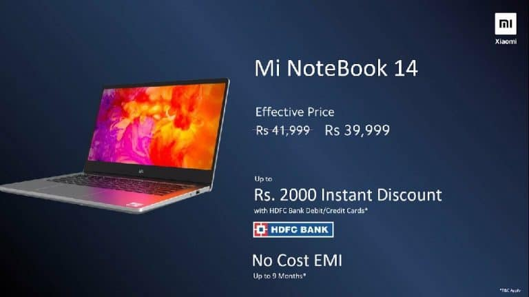 Mi NoteBook 14 & Mi Notebook 14 Horizon Edition launched in India