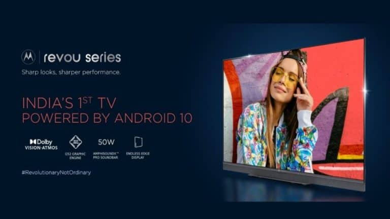 Motorola Revou, ZX2 Smart TV Lineups Launched Starting at Rs. 13,999
