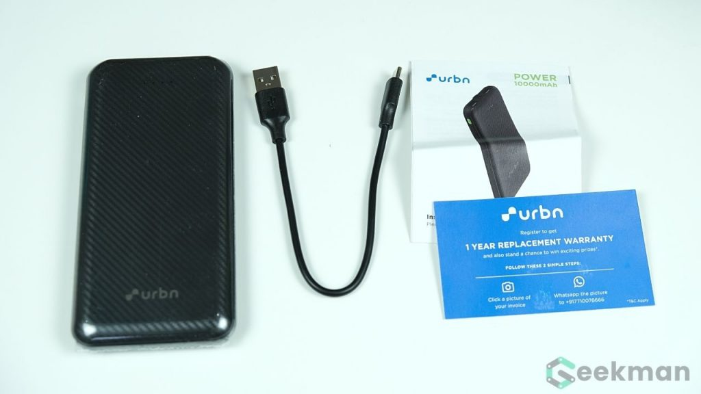 URBN Power Bank box content