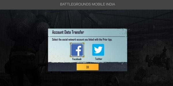 Battlegrounds Mobile India account social login