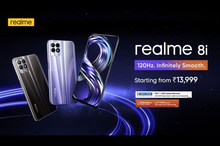 Realme 8i Luanched In India At Rs. 13,999, Comes With 6.6-inch FHD+ 120Hz Display, Helio G96, And 50MP Rear Camera