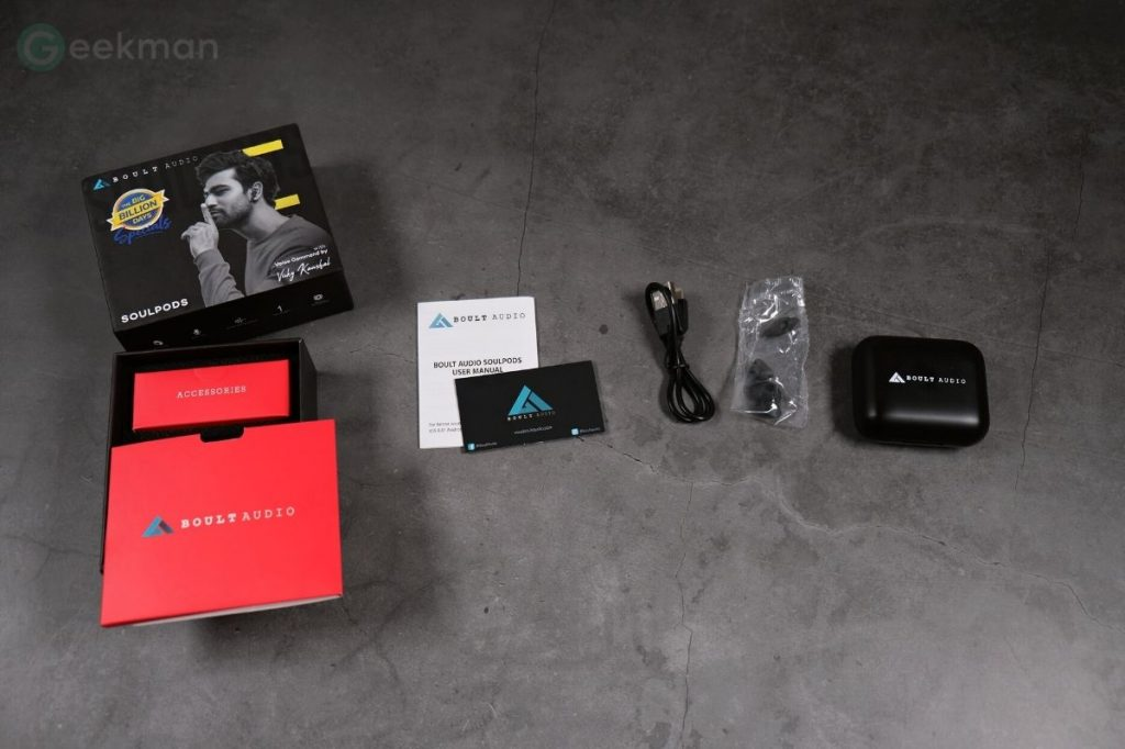 Boult Audio AirBass SoulPods box content