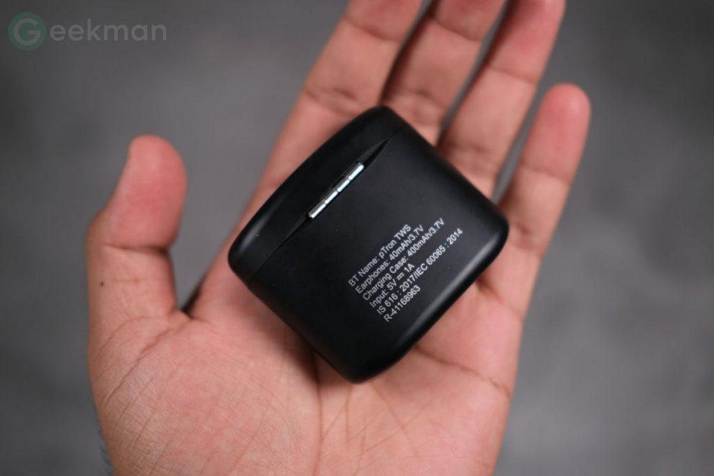 pTron Bassbuds Lite V2 battery